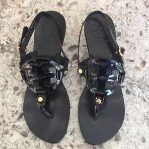 Tory Burch Holly Kitten Heal Black Sandals